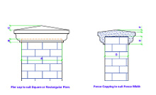 pier cap and fence capping